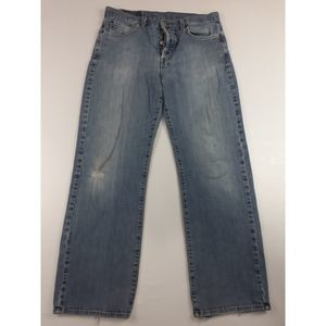LUCKY BRAND BOOTCUT DISTRESSED JEANS SIZE 33
